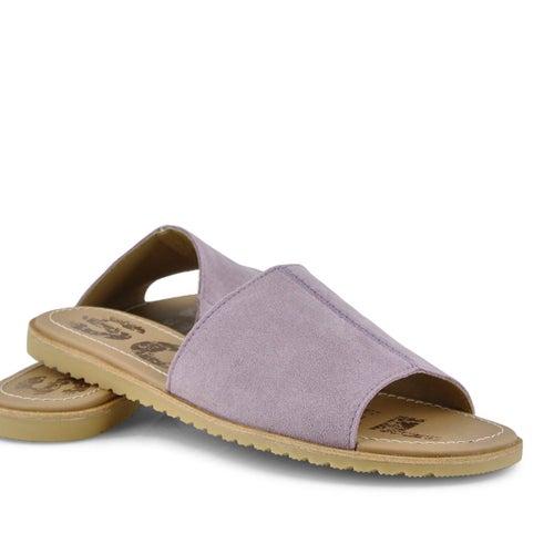 Lds Ella Block shale mauve slide sandal
