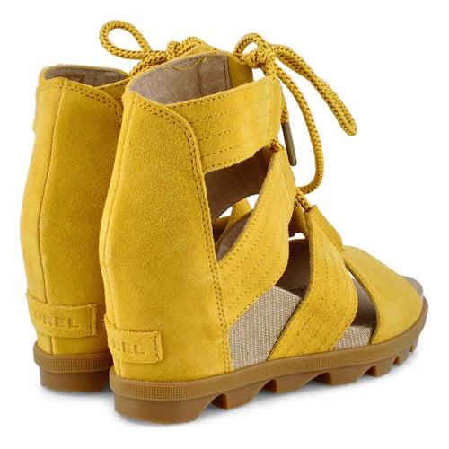 Lds Joanie II Lace goldn yellow wdg sndl