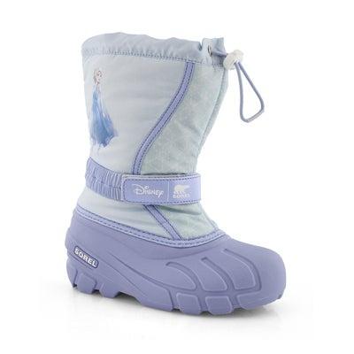 Girls' DISNEY FLURRY FROZEN ELSA purple boot