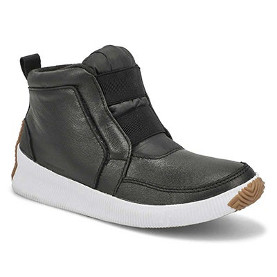 Lds Out N About Plus Mid blk winter boot