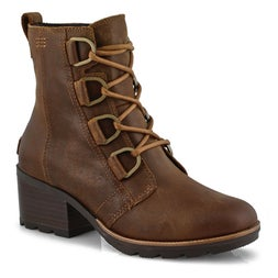 Lds Cate Lace tan casual wtpf ankle boot