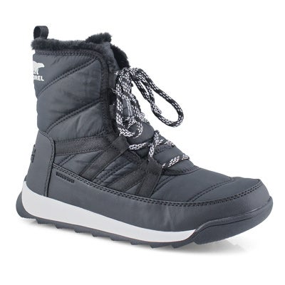 Women's WHITNEY II SHORT blk waterproof boots