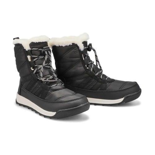 Grls Whitney II Short blk wtp snow boot
