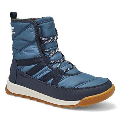 Lds Whitney II Short Wp Wntr Boot - Blue