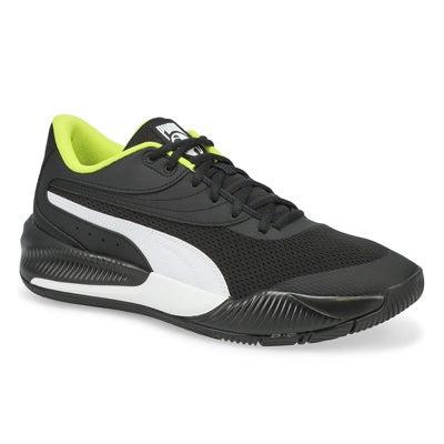 Mns Triple Lace Up Sneaker- Black/White