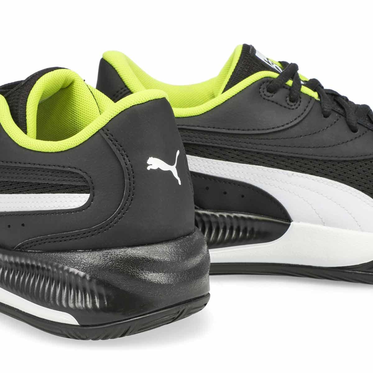 Men's Triple Lace Up Sneaker- Black/White