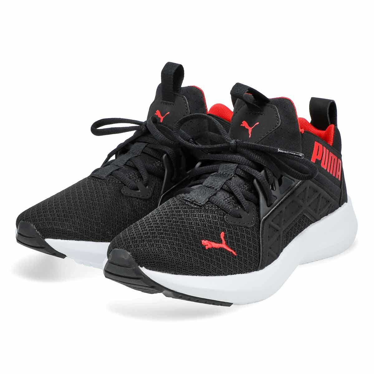 Boys' Softride Enzo NXT Jr Sneaker-Black/White/Red
