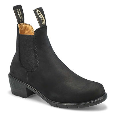 Lds Block Heel black chelsea boot