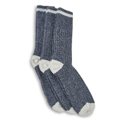 Mns Duray denim wool blend sock-3 pk