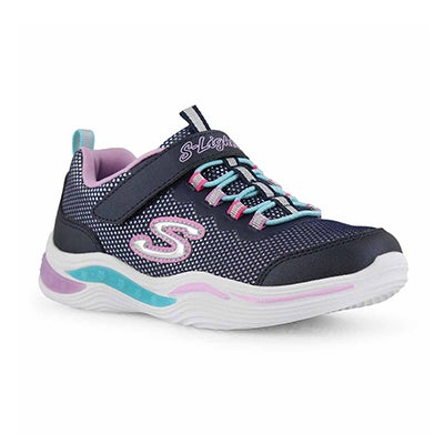 Girls' POWER PETALS navy/multi sneakers