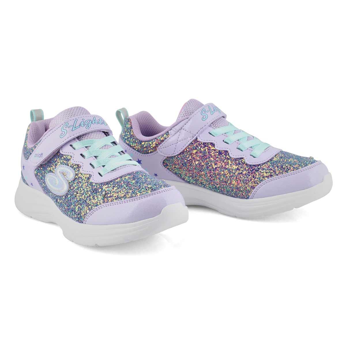 Grls Glimmer Kicks lavender sneaker