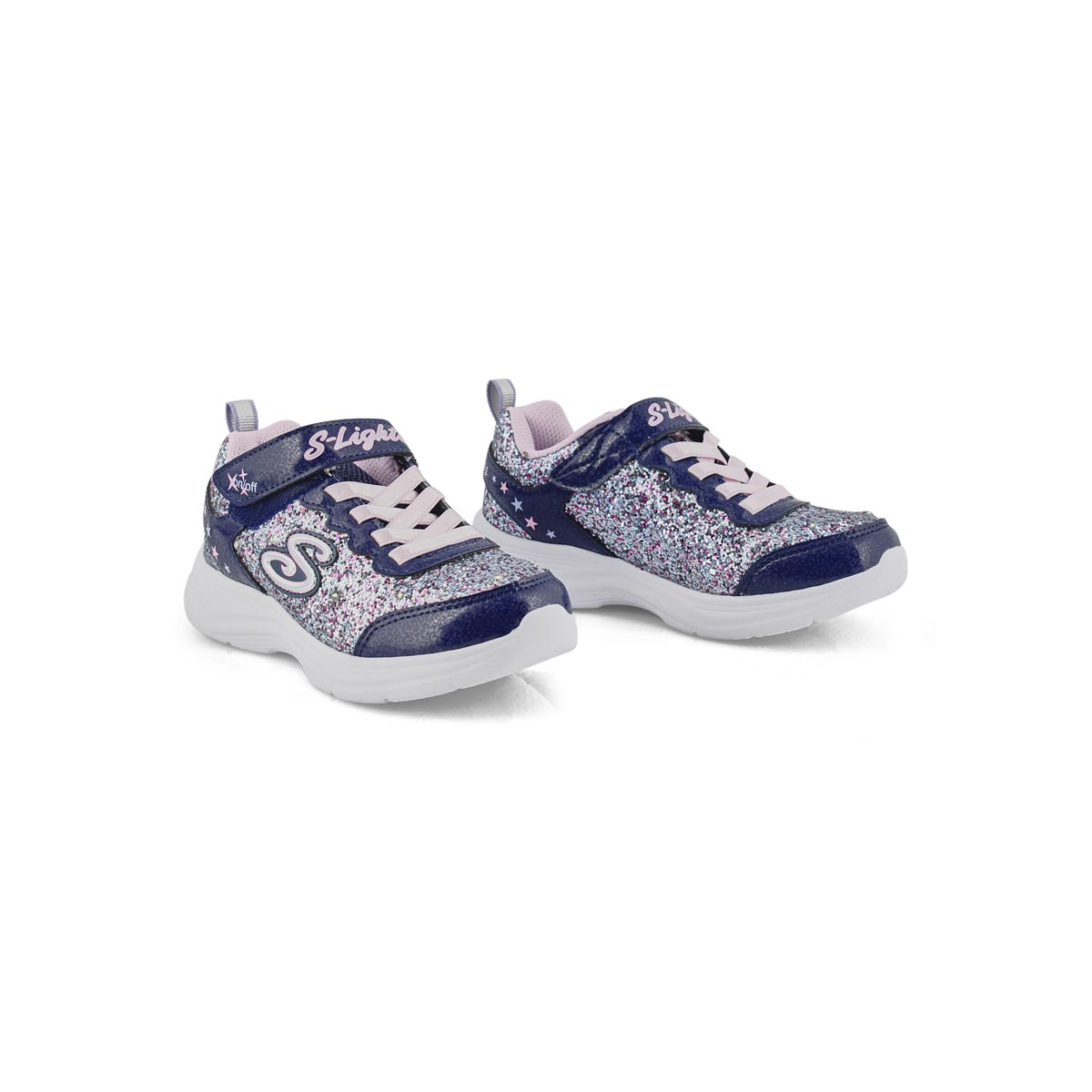 Girls' Glimmer Kicks Sneakers - Navy/Multi