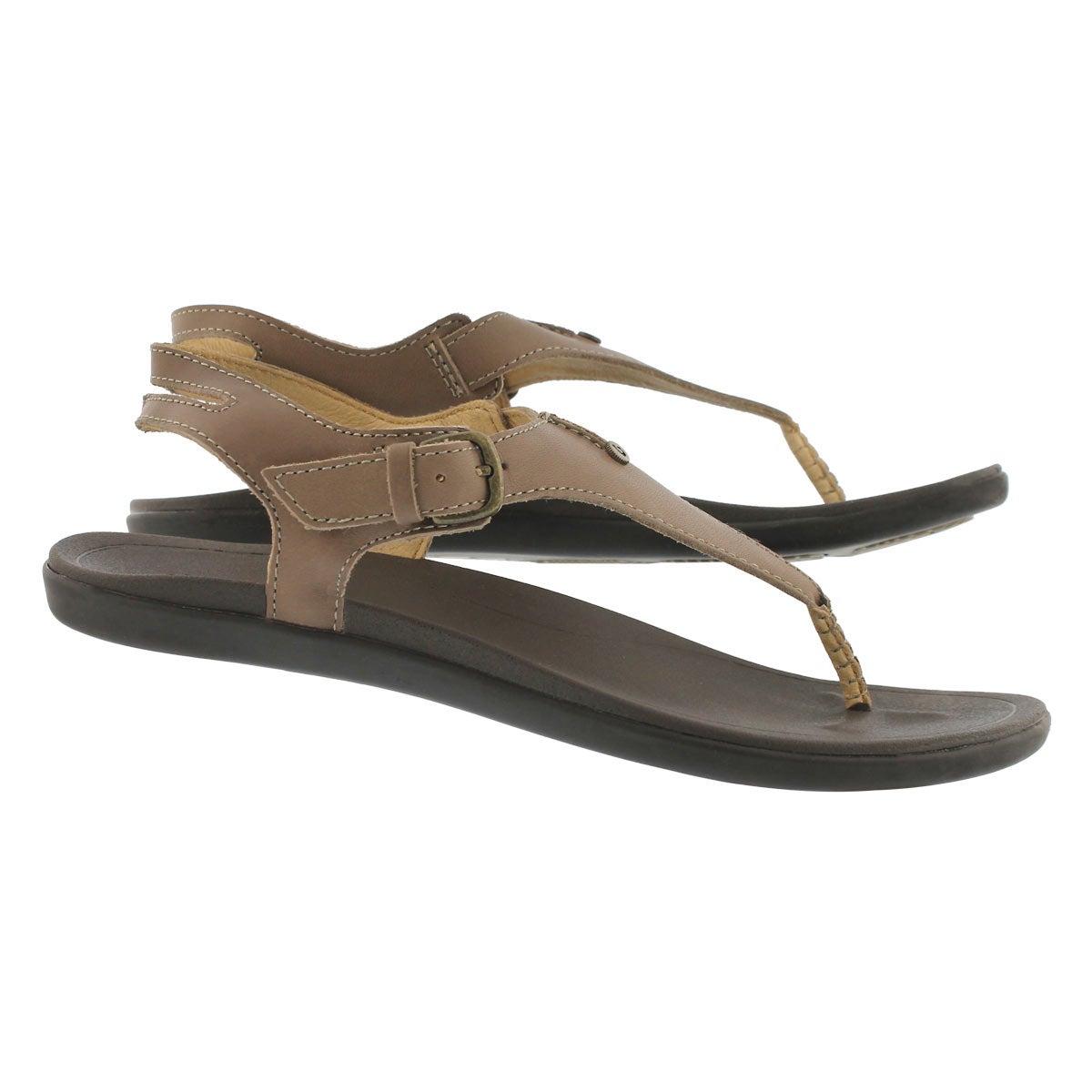 Women's EHEU clay/dk java thong sandals