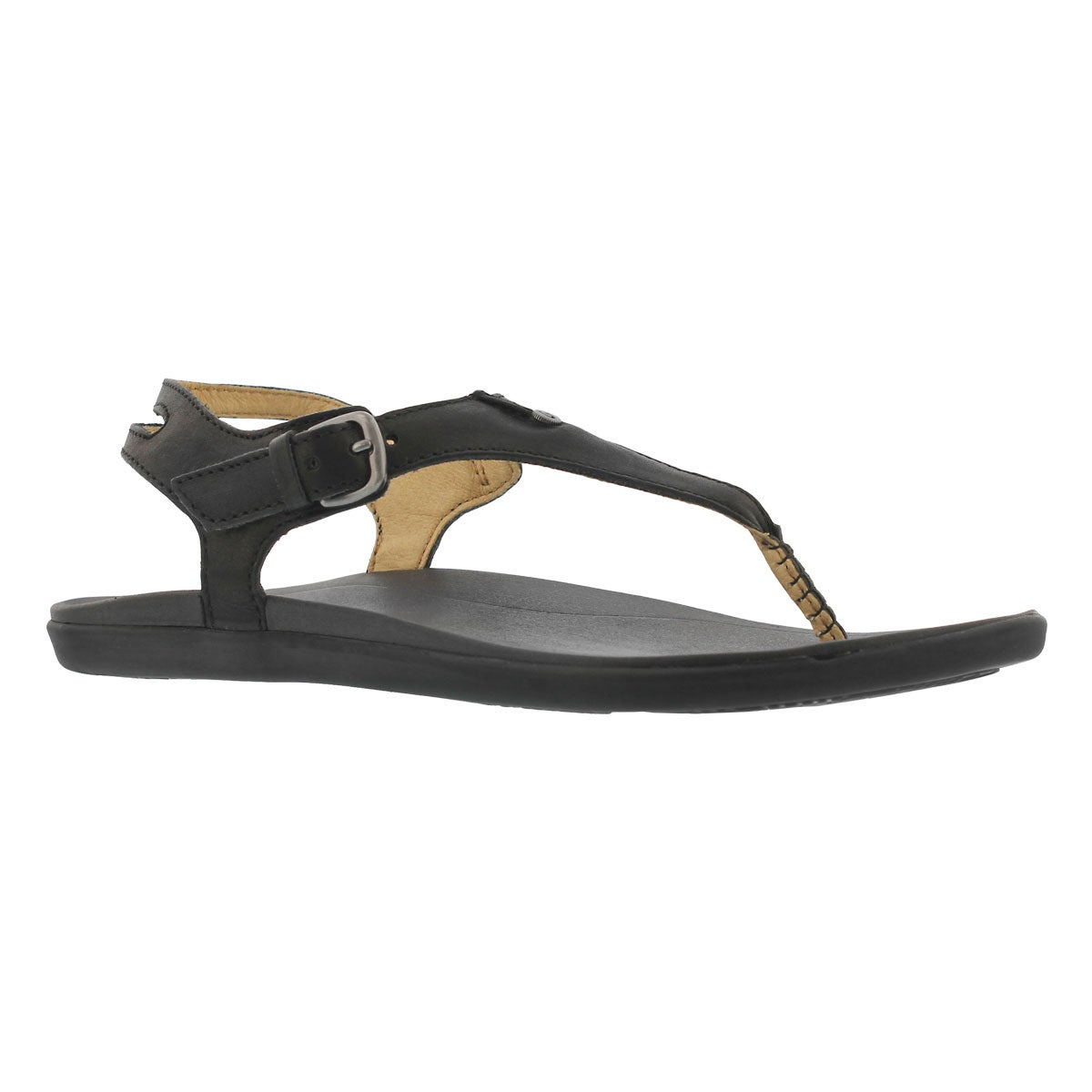 Women's EHEU black/black thong sandals