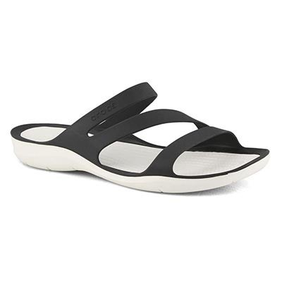 Women's SWIFTWATER black/white slide sandals