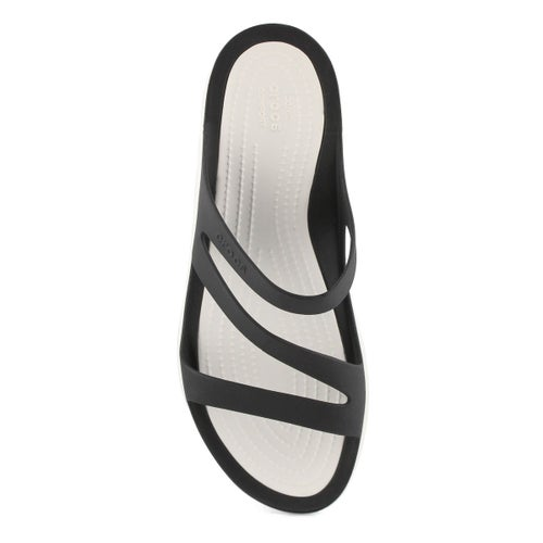 Lds Swiftwater black/white slide sandal