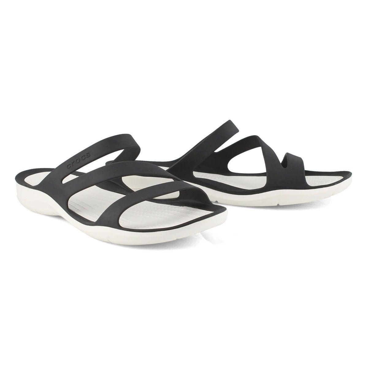 Women's Swiftwater Slide Sandal - Black/White