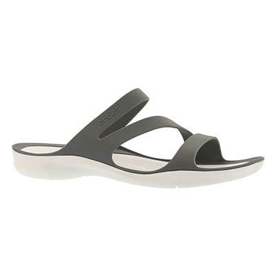 Lds Swiftwater smoke/white slide sandal