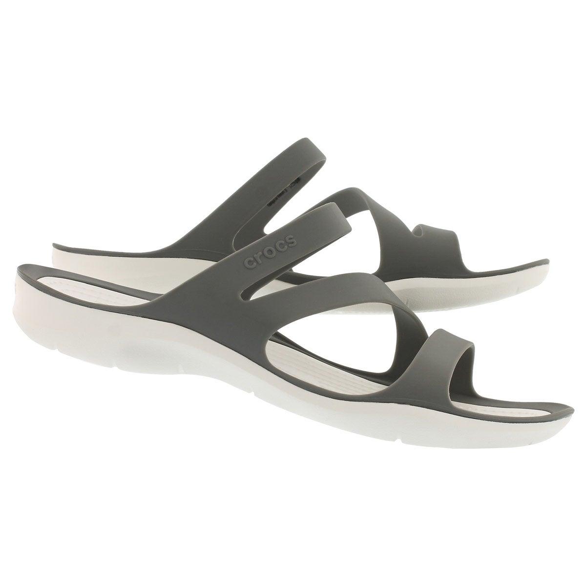 Women's SWIFTWATER smoke/white slide sandals