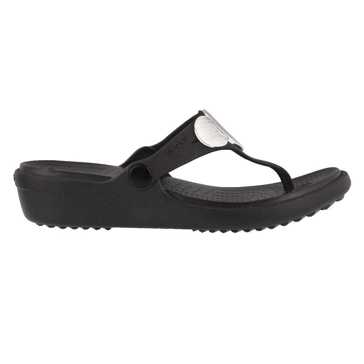 Sandales SANRAH EMBELLISHED, noir/argt mét, femmes