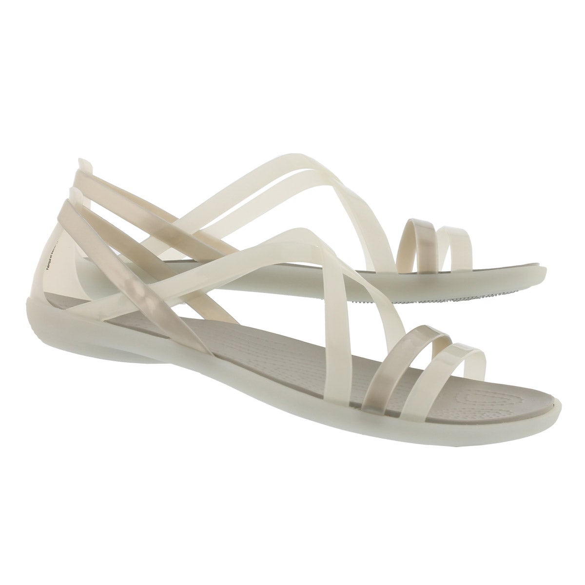 Women's Isabella Strappy Sandal - Oyster/Pearl Wht