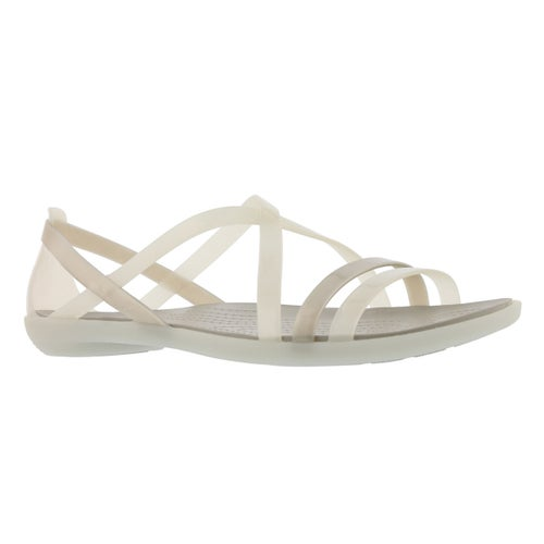 Lds Isabella Strappy oystr/prl wht sndl
