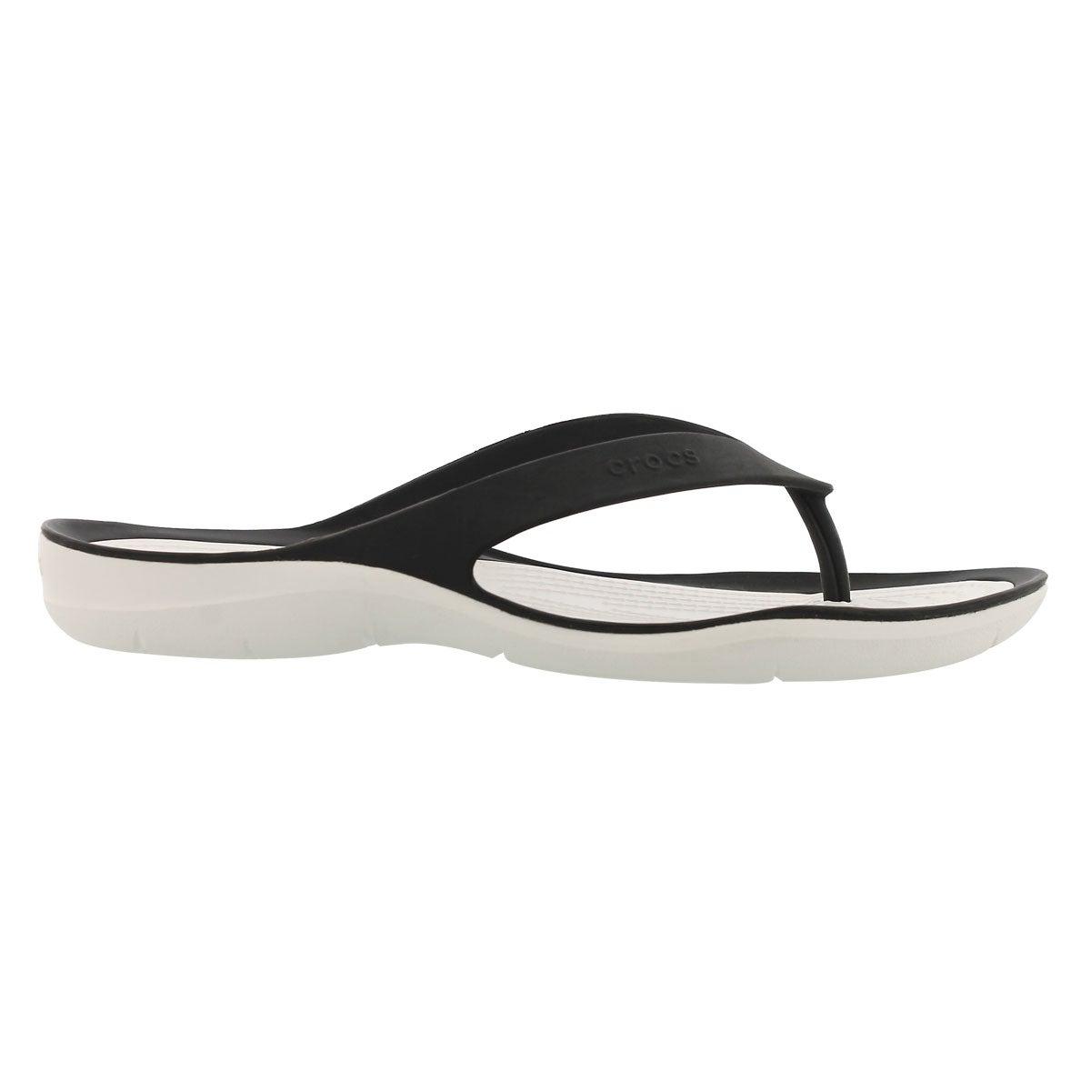 Sandales tong SWIFTWATER FLIP, noir/blanc, femmes