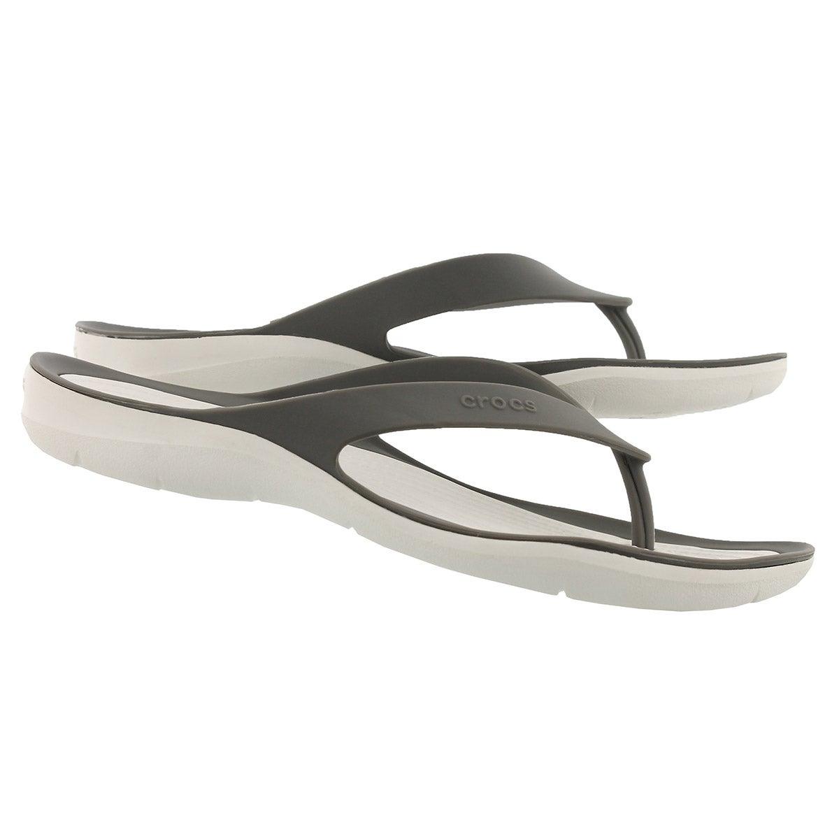 Sandales tongs SWIFTWATER FLIP, fumée/blanc, femme