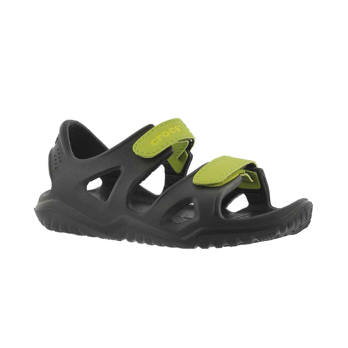 Bys Swiftwater River blk/grn casual sndl