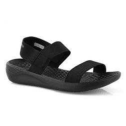Lds LiteRide blk/blk casual sandal