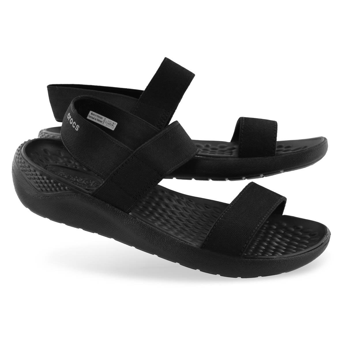 Sandale décont.LITERIDE,noir/blanc,femme