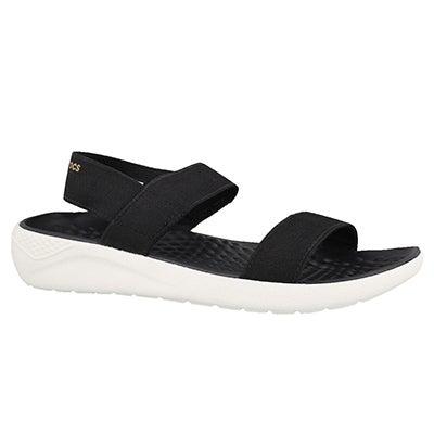 Sandale LiteRide, noir/blanc, femmes