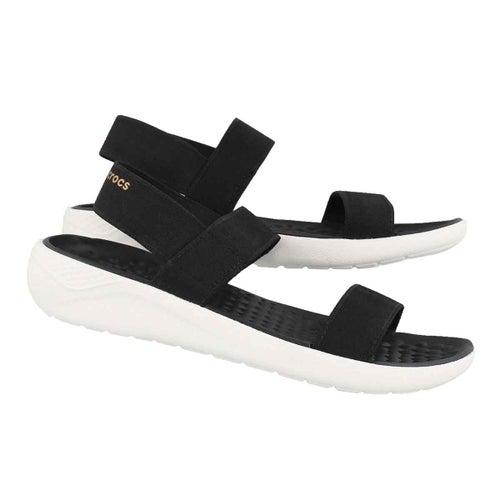 Lds LiteRide blk/wht casual sandal