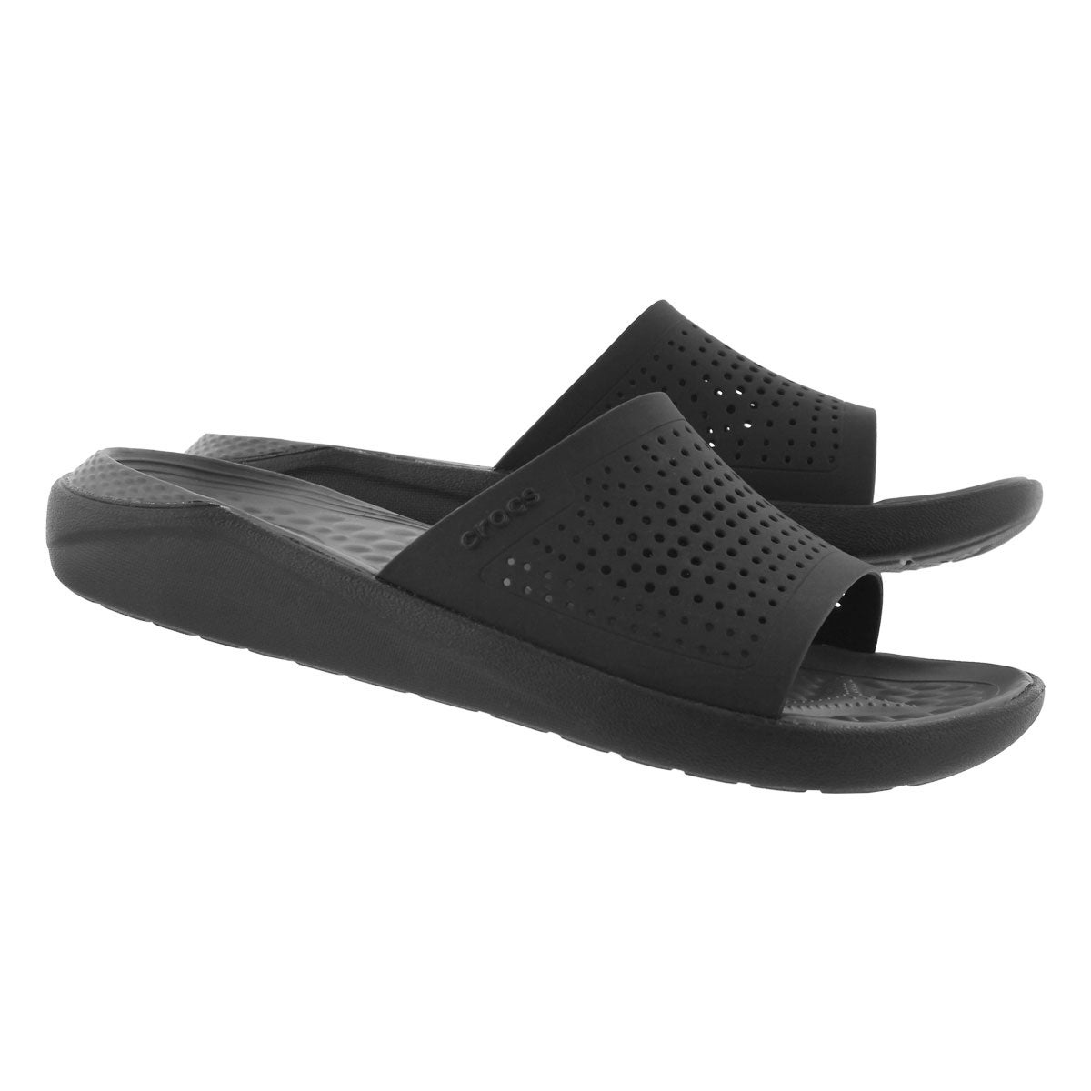 Sandales à enfiler LITERIDE, noir/ardoise, hommes