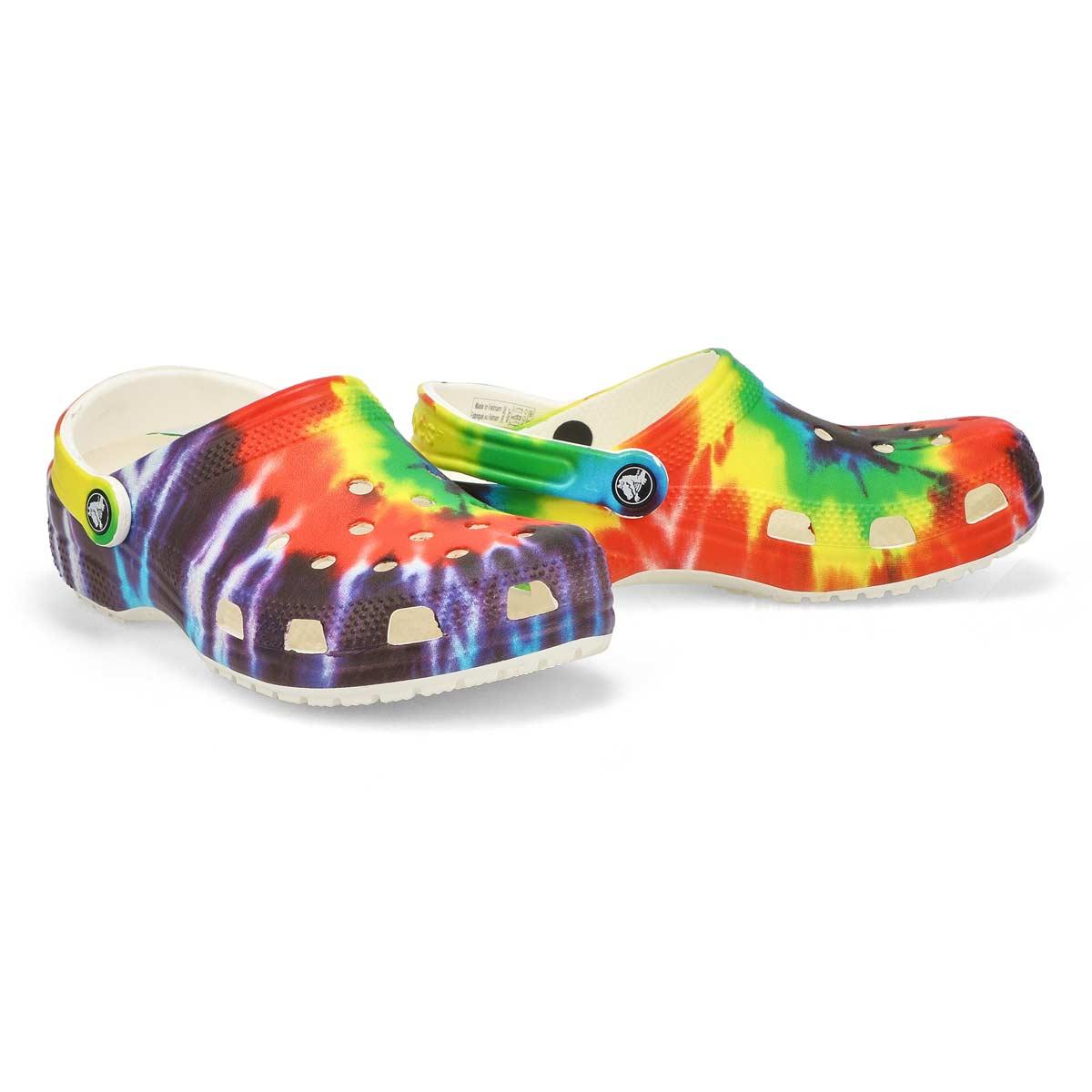 Sabots CLASSIC, tie dye multicolore, unisexe