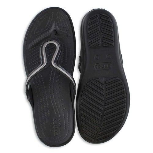 Sandale tong Sanrah MetalBlock, nr, fem