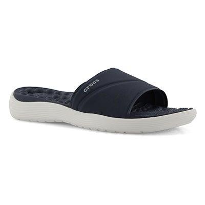 Lds Reviva navy/white slide sandal