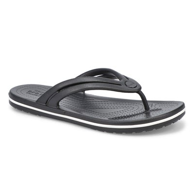 Lds Crocband Flip black thong sandal