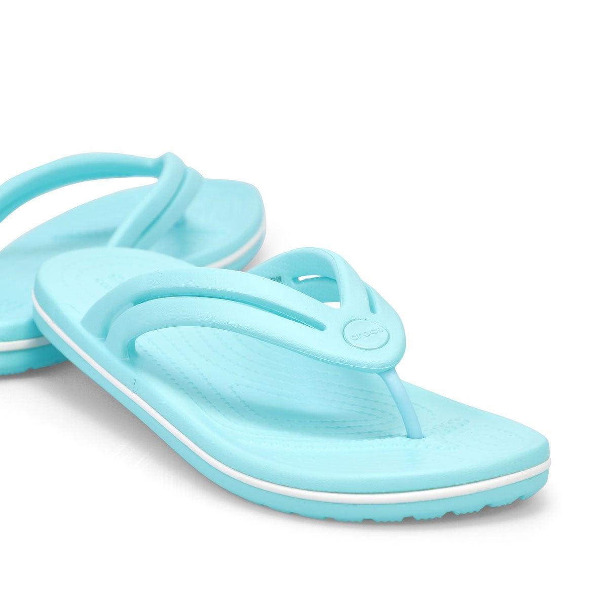 Sandale tong Crocband Flip, femmes - Bleu glacé