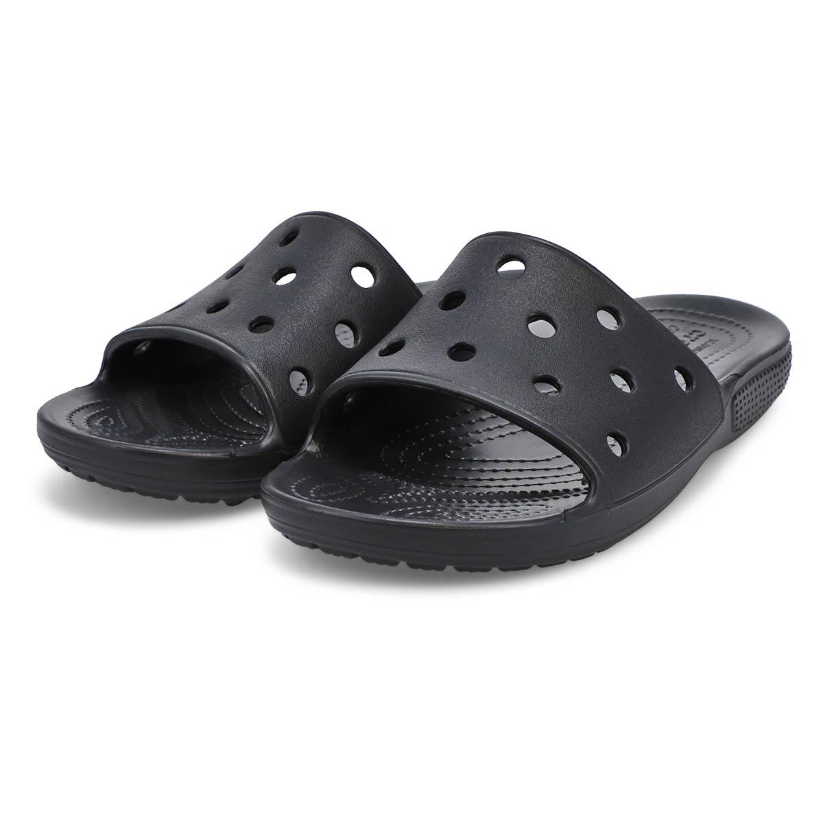 Womens' Classic Crocs Slide Sandal - Black
