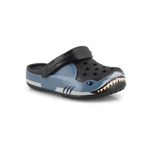 Bys Funlab Shark Band black clog