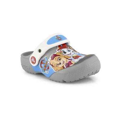 Kds Funlab Paw Patrol light grey clog