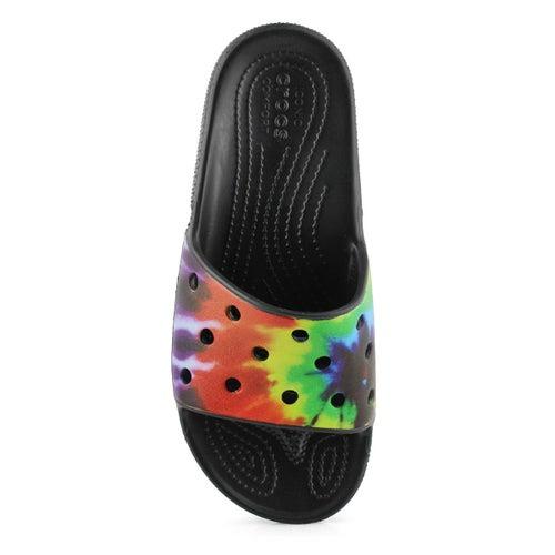 Lds Classic Crocs TieDye Slide mlti sndl