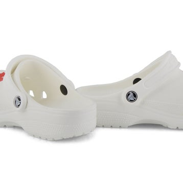 Women's Classic Canadian Clog - Red/ White
