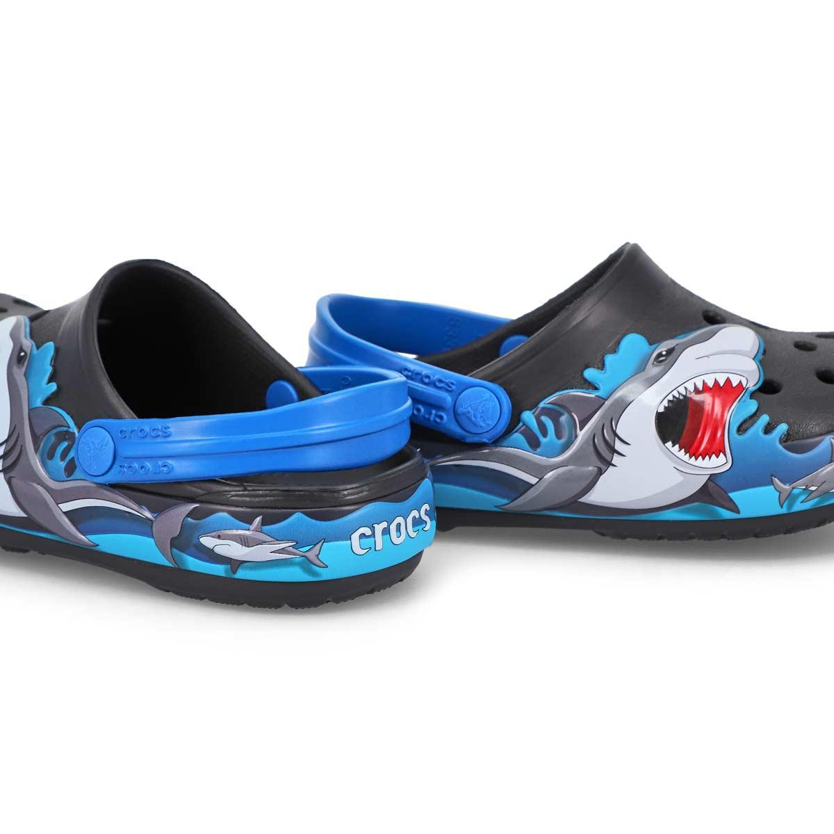 Infants' FL Shark Lights EVA Clog - Black