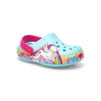 Inf-g Unicorn Lights ice blue EVA clog