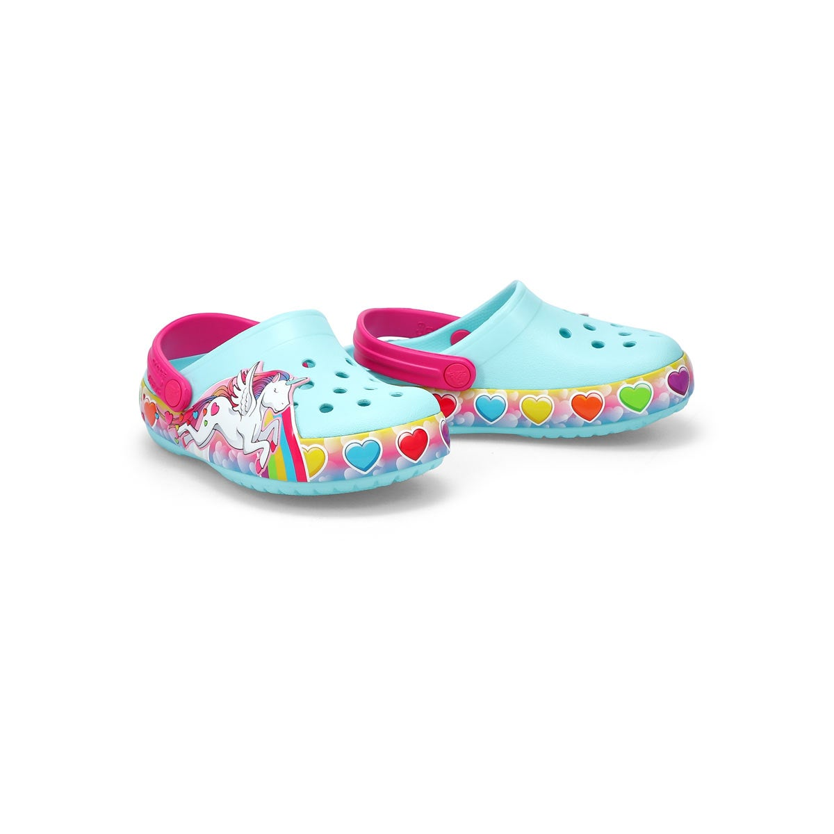 Infant's Unicorn Lights EVA Clog - Ice Blue