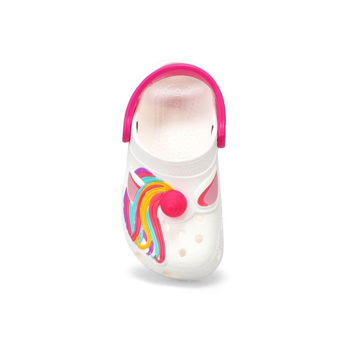Infant's Classic I Am Unicorn EVA Clog - White
