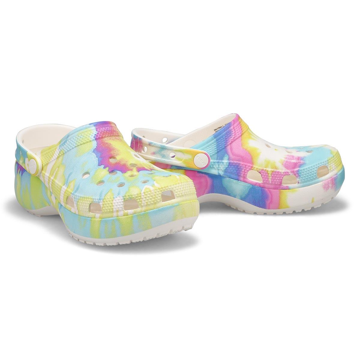 Women's Classic Platform EVA Clog - Tie Dye