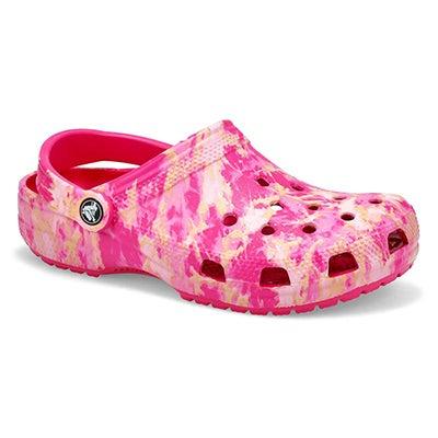 Lds Classic Bleach Dye Clog - Candy Pink